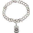Wholesale Mini Silver Dog Tag Charm Bracelet with Actual Paw Print