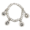 Wholesale Bracelet with 4 actual paw print charms