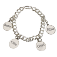 Petite Oval Charm Bracelet with engraving on backs