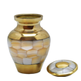 Wholesale Urn Keepsake: Mother of Pearl shown with open lid