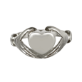 Front shown of heart ring pet cremation jewelry