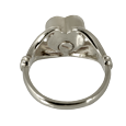 Urn compartment shown on back of Heart Ring urn jewelry