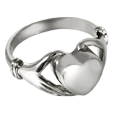 Pet Cremation Jewelry Sterling Silver Heart Ring