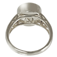 Urn opening shown on back of Celtic ring pet cremation jewelry