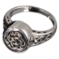 Pet Cremation Jewelry Sterling Silver Celtic Ring