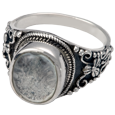 Wholesale Cremation Jewelry: Sterling Silver Ring with Clear Glass Front
