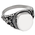 Pet Cremation Jewelry Sterling Silver Round Ring
