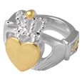 Wholesale Urn Jewelry: Sterling Silver & Gold Claddagh Ring