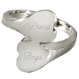 holesale Pet Cremation Jewelry Companion Heart Ring shown engraved