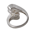 Companion urn compartment shown on back of Companion Heart Ring