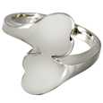 Pet Cremation Jewelry Sterling Silver Companion Heart Ring