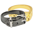 Wholesale Pet Cremation Jewelry Ring- Collar shown in silver and gold metal