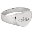 Wholesale Bold Heart Ring with script engraved name