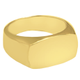 rectangle cremation jewelry in gold-plating or yellow gold