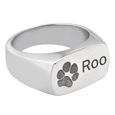paw print and name personalized pet jewelry