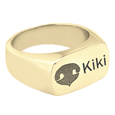 pet nose print personalized jewelry ring in gold