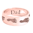 Wrap-Around Footprint Trail Band Ring shown in rose gold