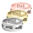 Wrap-Around Footprint Trail Band Ring shown in silver, yellow and rose gold