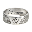 personalize jewelry with fingerprints in silver