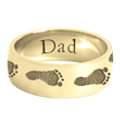 Wrap-Around Footprint Trail Band Ring shown in yellow gold