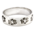 alternative view of paw print ring band