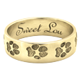 Wrap-Around Paw Print Band Ring shown in yellow gold