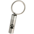 Wholesale Cremation Keychain: Pawprint Cylinder