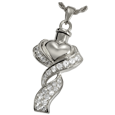 Wholesale Cremation Jewelry Ribboned Heart