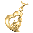 Cremation Jewelry: In My Heart Cat