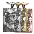 rectangle pendant with custom pet photo