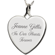 Wholesale Sterling Silver Heart Flat with Text Engraving