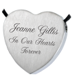 Wholesale Stainless Steel Heart Flat with Text Engraving