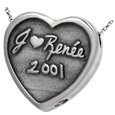 Wholesale 3D Handwriting Heart Jewelry with keepsake compartment