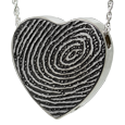 Wholesale B&B Heart Fingerprint Jewelry chamber sterling silver
