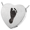 Wholesale B&B Heart Footprint Jewelry chamber in silver
