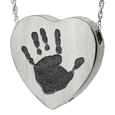 Wholesale Heart Jewelry with Handprint with urn compartment