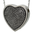 Wholesale B&B Heart Rim Fingerprint Jewelry chamber silver