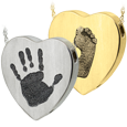 Wholesale Heart Jewelry with Hand or Foot Print in silver or gold