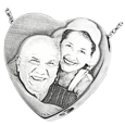 laser engraved photo pendant with interior chamber