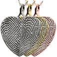 Wholesale B&B Heart Double Print Jewelry no chamber in silver and gold