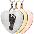 Wholesale B&B Heart Footprint Jewelry no chamber in silver and gold