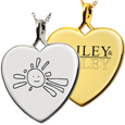 Heart Personalized Jewelry front- Drawing or Logo