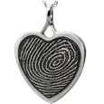 Wholesale B&B Heart Fingerprint Rim Jewelry no chamber silver
