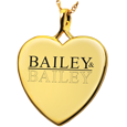Gold Heart Personalized Jewelry front- Logo