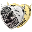 Wholesale Halfprint with Name Heart Jewelry in silver and gold metals