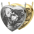Heart Jewelry with engraved custom photo
