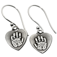 Wholesale Petite Heart Earrings matching handprints