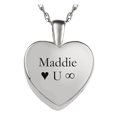 silver heart compartment jewelry engraved with text