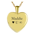 yellow gold heart compartment jewelry engraved with text