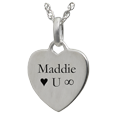 Wholesale Sterling Silver Petite Heart Flat with Text Engraving
